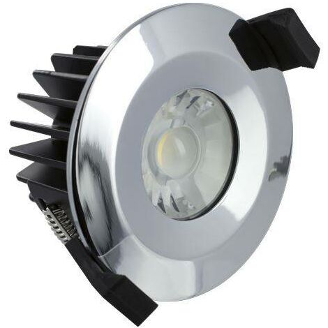 Integral - LED Low Profile IP65 Fire Rated Downlight Recessed Spotlight 6W 3000K 430lm Dimmable Polish Chrome IP65