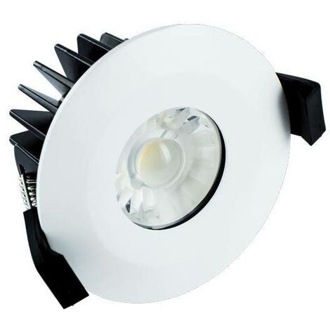 Integral - LED Low Profile IP65 Fire Rated Downlight Recessed Spotlight 10W 850lm 4000K Dimmable Matt White IP65