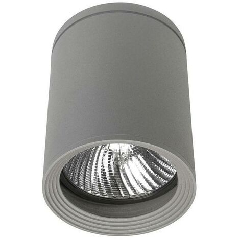 Leds-C4 - 1 Light Outdoor Surface Mounted Ceiling Light Grey IP54, E27
