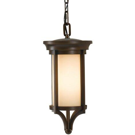 Elstead Merrill - 1 Light Small Outdoor Ceiling Chain Lantern Heritage Bronze, E27