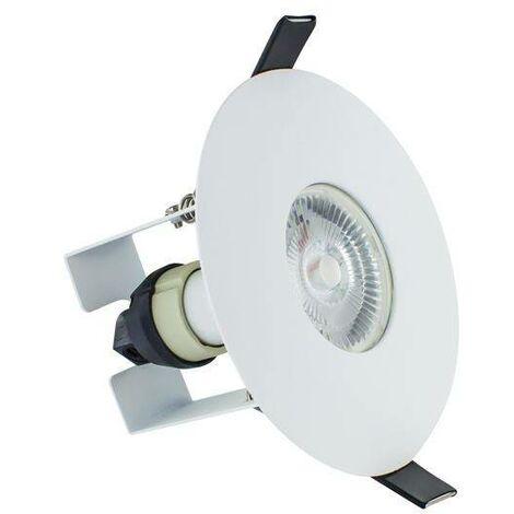Integral - LED Fire Rated Downlight Round White Insulation Guard / GU10 Holder Matt White IP65