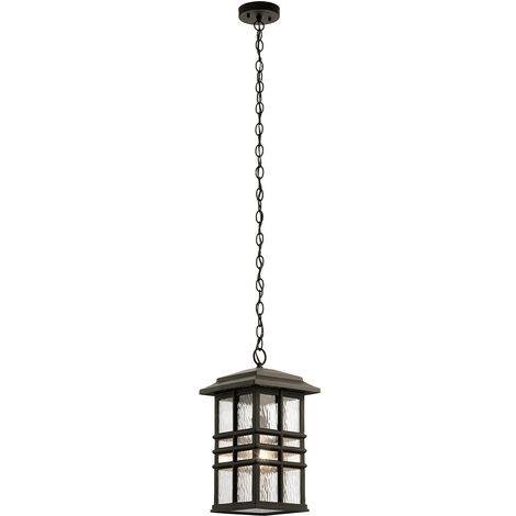 Elstead Beacon Square Outdoor 1 Light Chain Lantern, Olde Bronze, IP44, E27