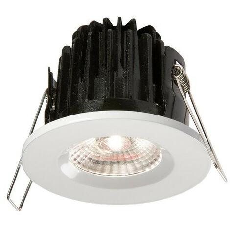 Knightsbridge LED 4000K Cool White Bathroom Downlight with White Bezel, IP65 7W