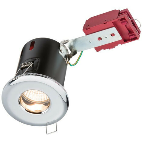 Knightsbridge Fire-Rated Shower Downlight Chrome, 230V IP65 GU10 IC