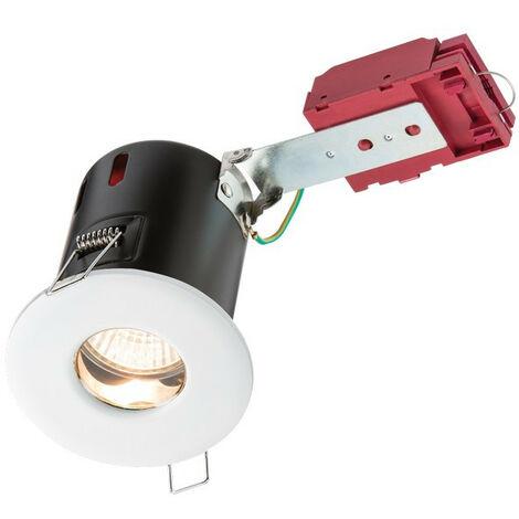 Knightsbridge Fire-Rated Shower Downlight White, 230V IP65 GU10 IC