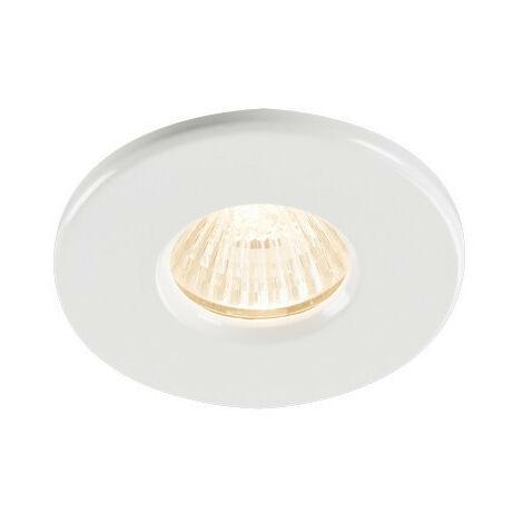 Knightsbridge Bathroom Recessed Downlight - White, IP65 GU10