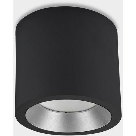 LEDS C4 Cosmos LED ø168mm Outdoor LED Surface Mounted Downlight Large Black IP65 23W 4000K
