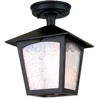 Elstead York - 1 Light Outdoor Ceiling Lantern Black, E27