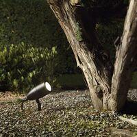 Ideal Lux Inside - 1 Light Outdoor Spike Spotlight Black IP54, G9