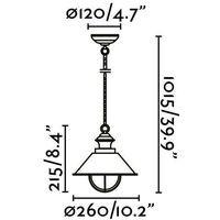Faro Ntica-P - 1 Light Small Outdoor Ceiling Pendant Light Brown, Copper, E27