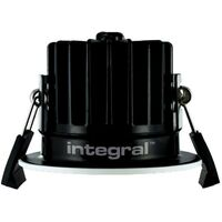 Integral - LED Low Profile IP65 Fire Rated Downlight Recessed Spotlight 10W 830lm 3000K Dimmable Matt White IP65