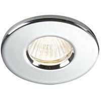 Knightsbridge Bathroom Recessed Downlight - Chrome, IP65 GU10