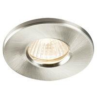 Knightsbridge Bathroom Recessed Downlight - Brushed Chrome, IP65 GU10