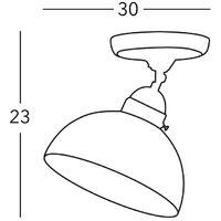Kolarz NONNA - Cottage Style Glass Dome Ceiling Light Matt Antique Brass, 1x E27