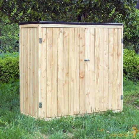 Cabane De Jardin En Bois Brut, Pour Rangement, Hauteur : 127 cm. - Bois