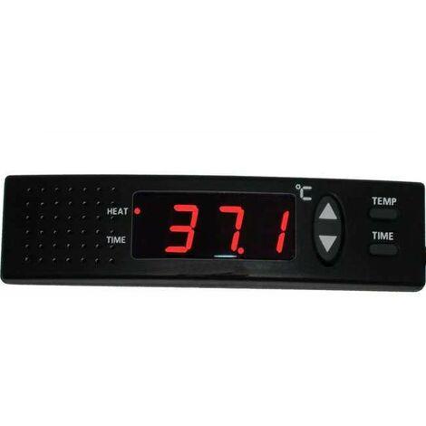 Thermostat électronique 1200 W pour aquarium et terrarium - Noir
