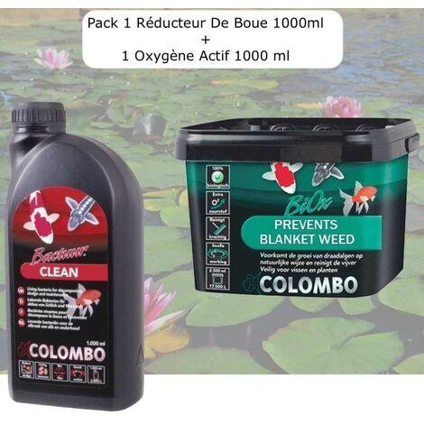 Pack Réducteur De Boue, 1000 ML + 1 Oxygène Actif,1000 ml Pour Bassins De 12500L