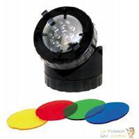 Décoration De Bassin De Jardin, Pagode Noire + Spot LED 1,5W - Noir