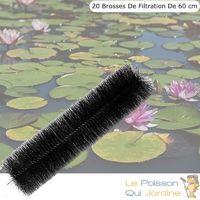 20 brosses de filtration 60 cm pour filtre de bassins de jardin