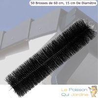 50 brosses de filtration 60 cm pour filtre de bassins de jardin
