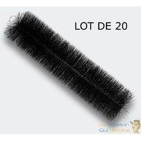 20 brosses de filtration 30 cm pour filtre de bassins de jardin - Noir