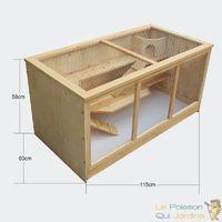Clapier Ou Cabane Pour Hamsters , Petits Rongeurs, En Bois, De 115 cm - Bois