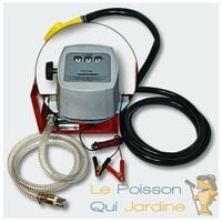 Pompe à Gasoil, Mazout, Diesel, 40l/m, 150W, 12V, Compteur + Pistolet