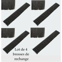 Remorque Ramasse Feuilles - Pelouse 120 cm + Lot de 4 Brosses De Rechange
