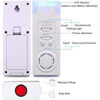 Haus Wireless Mobiler Alarm Notruf Knopf Pflegeruf-Set Hausnotruf Panikalarm Funkalarm für Pflegebedürftige Geduldig Älterer Mann (1 in 2)