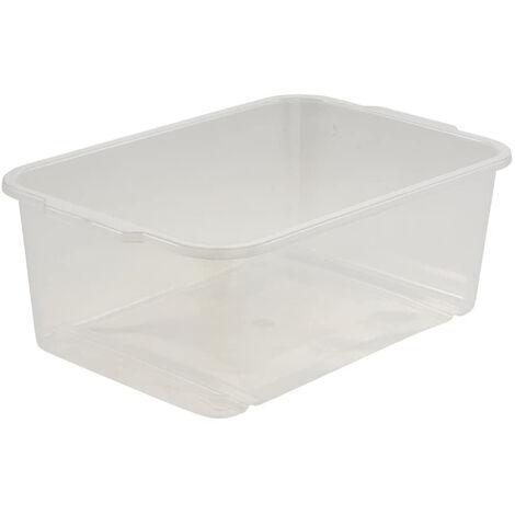 Boîte de rangement, Plastique solide (PP), 4,5 l, 30 x 20 x 11 cm, Wilma, Neutral transparent