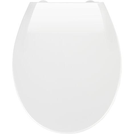 Siège de toilette automatique Wenko, thermoplastique, blanc, 44x37,5x3 cm