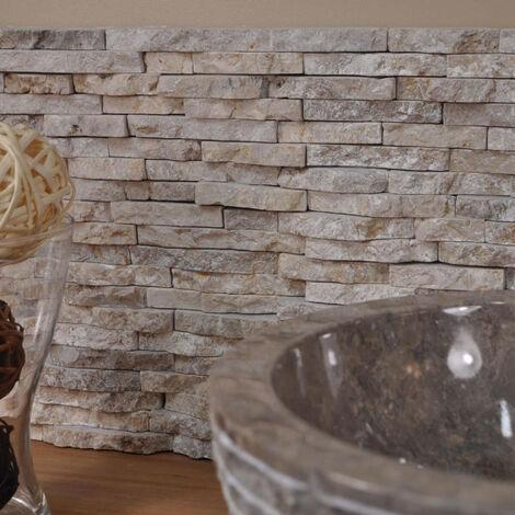 Parement en pierre naturel marbre brut crème