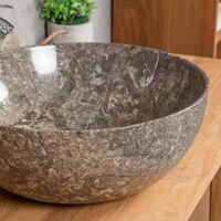 Vasque en marbre à poser Léa gris 40 cm