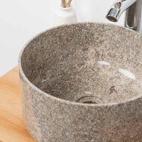 Vasque en marbre ronde pour salle de bain Ulysse 30 cm gris