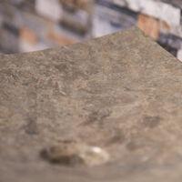 Grande vasque grise 50cm à poser rectangle en marbre Gènes poli