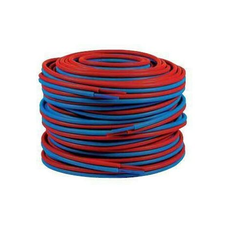Tubo doble preencubierto PER 10x12 - 100m azul/rojo