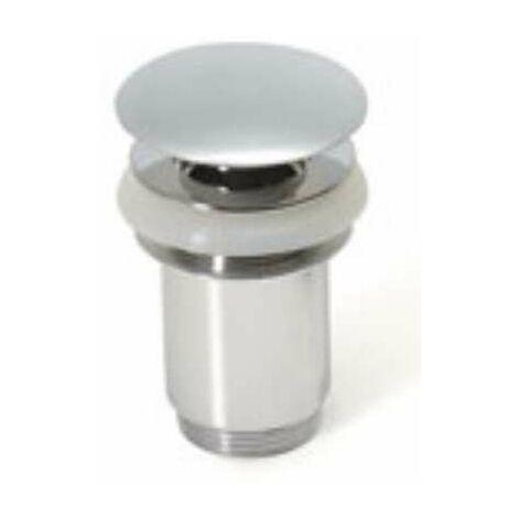 Tapón de latón Clic-Clac para lavabo, tapa grande