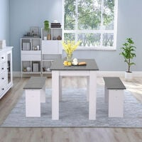 Dining Table with 2 benches Dining Table Set for Kitchen, Dining Room