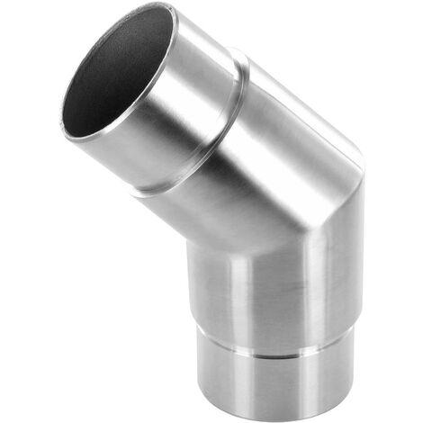 Raccord 135° angle vif pour tube Diam 42,4 x 2mm, en inox brossé AISI 316