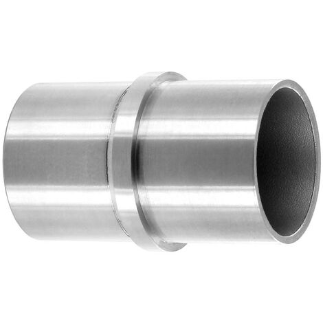 Raccord de Jonction Droit pour Tube inox Diam 42,4 x 2mm, inox brossé AISI 316