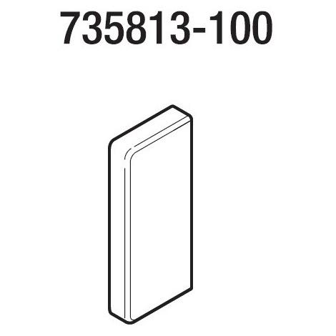 Rehau 735813-100 Embout goulotte CLIDI 130x55mm