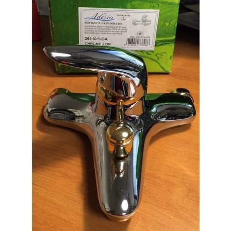 Adesio 26110/1-GA - Mitigeur bain/douche - chrome + or