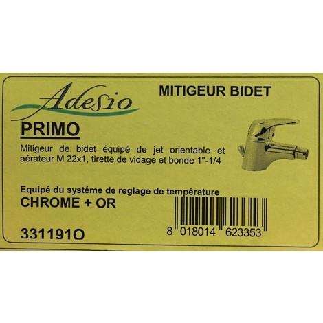 Adesio 331191O - Mitigeur bidet - chrome + or