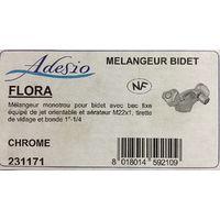 Adesio 231171 - Mélangeur monotrou bidet - bec fixe