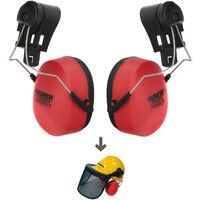 Protector Auditivo De Recambio Para Casco Con Visera, Protector Facial De Rejilla y Protector Auditivo Maurer Modelo 99790