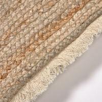 Kave Home - Fodera cuscino Clidia iuta e cotone con frange 45 x 45 cm - Natural