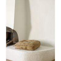 Kave Home - Cuscino da terra o per pallet in iuta Abir 63 x 63 cm - Natural