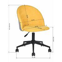 Chaise de bureau roulette jaune réglable en hauteur