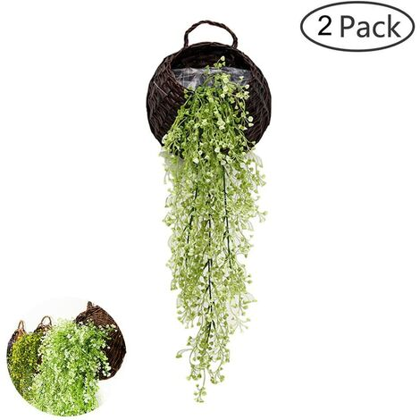 AUWU Ivy Artificielle retombantes Plantes de Vigne D/écoration dint/érieur en Plastique Verdure pour la Maison Mur int/érieur Outdside Suspendu Panier