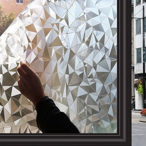 Film pour Fenetre Film Vitre Film Vitrage Fenêtre Non Adhesif Film Autocollant Vitre Decoratif pour Maison Bureau Chambre Cuisine Portes 44.5 x 200 CM